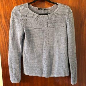 NIC+ZOE Sweater with split back bottom hem